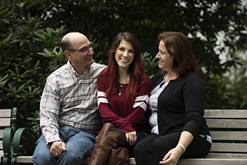 Samantha and her parents