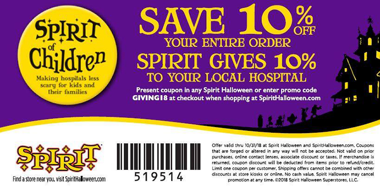 Spirit of Children coupon