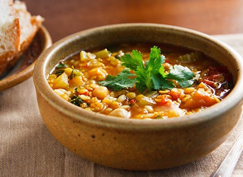 Moroccan Carrot, Lentil and Prune Soup