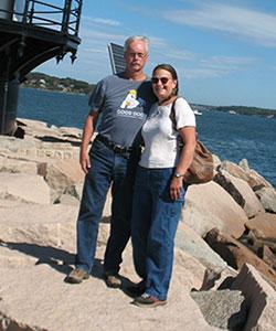 Jack and Susan Sullivan at the seashore