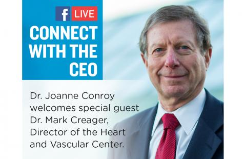 Mark Creager, MD, featured on Facebook Live with Joanne Conroy, MD.