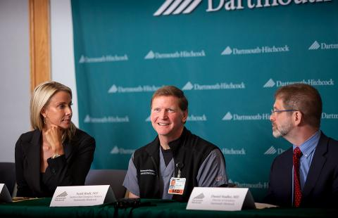 image of news conference announcing Dartmouth-Hitchcock's Geriatric Emergency Department