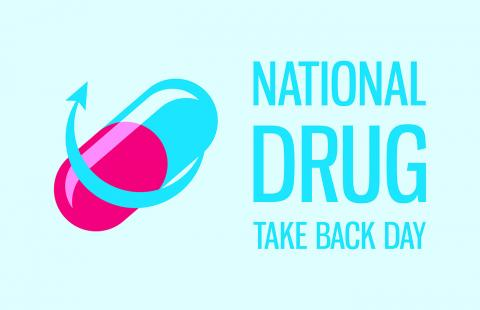 pill with national drug take back day written on the image