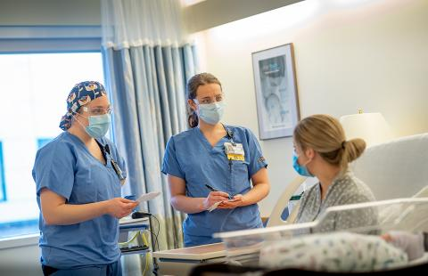 Photo of Emily Lowell, BSN, RN, and Jewelia Chevalier, BSN, RN