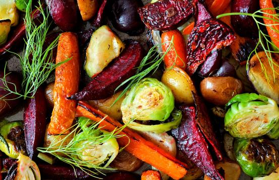 Healthy Roasted Fall Vegetables