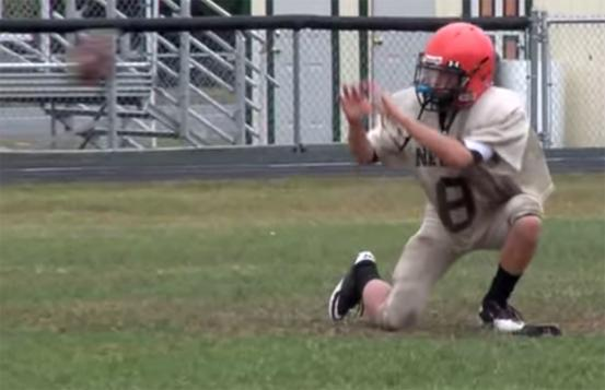 Ben playing football
