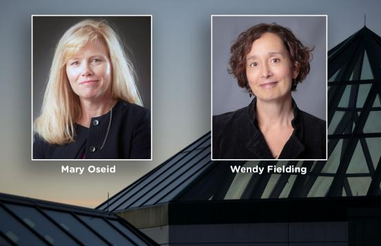 Mary Oseid and Wendy Fielding