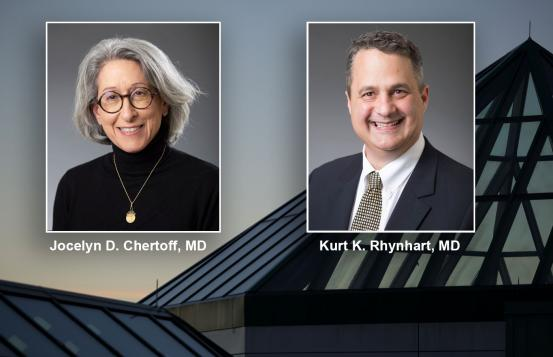 Dr. Jocelyn Chertoff and Dr. Kurt Rhynhart
