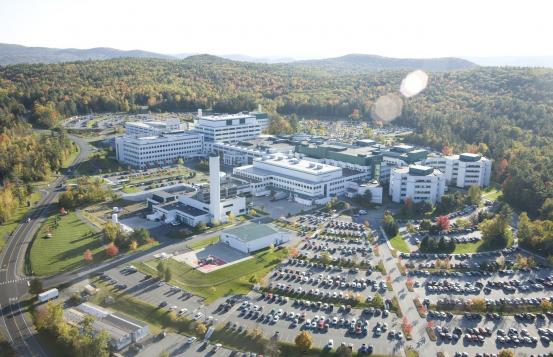 Aerial photo of Dartmouth-Hitchcock Medical Center in Lebanon, NH