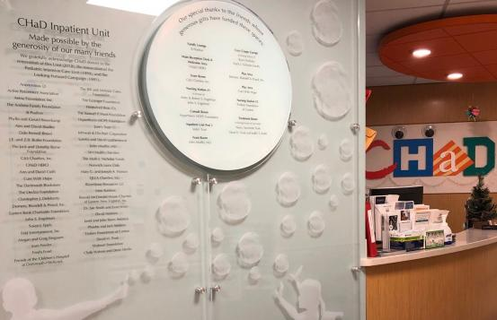 Donor wall display