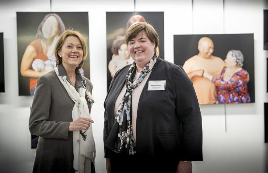 Dr. Joanne Conroy and Sue Stuebner