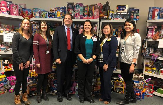 Governor Chris Sununu with CHaD staff