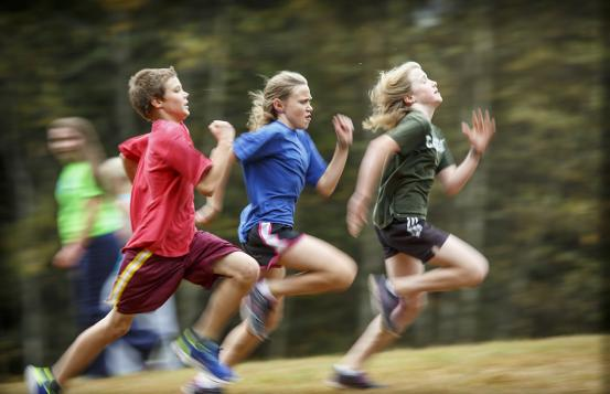 adolescents running