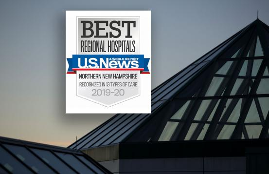 DHMC is number one in New Hampshire in US News's annual rankings