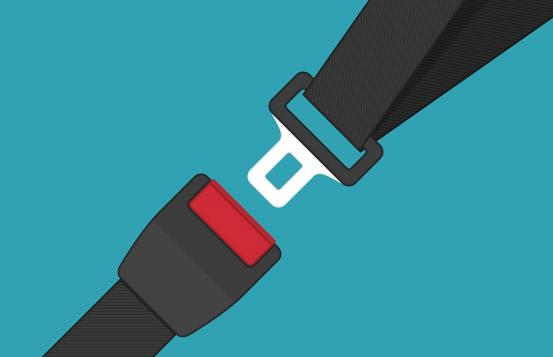 graphical representation of a seat belt
