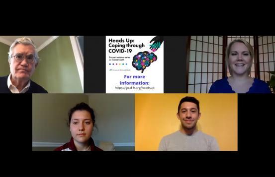 Screen shot from Webinar with Jonh Broderick, Audra Burns, Emily Galeva, Aron Silvestre