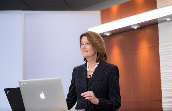 Joanne M. Conroy, MD, in studio for Rovenstine lecture