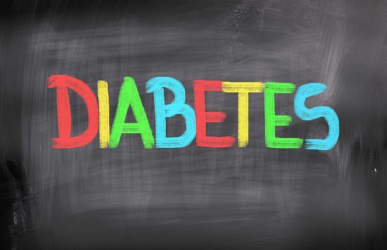 Diabetes written on a chaulkboard
