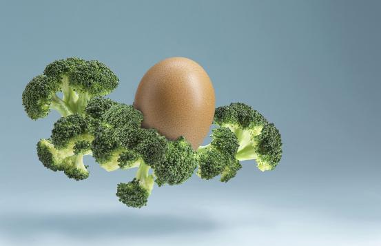 Broccoli and an egg