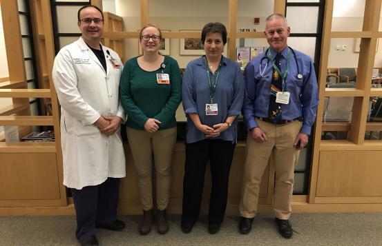 Timothy J. Fisher, MD, MS; Tara Higgins; Daisy Goodman, DNP, MPH, CNM, WHNP-BC; Steve Chapman, MD.