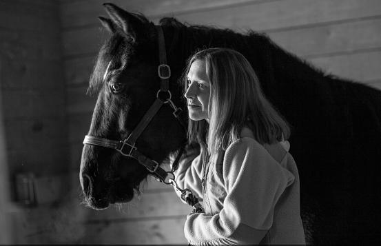 Amy Kaminski and her horse