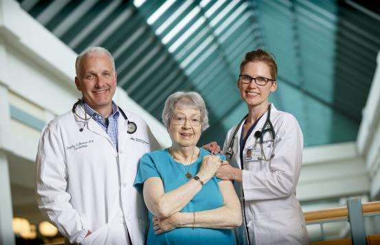 Tim Beaver, MD, Barbara Goldman, and Megan Coylewright, MD, MPH