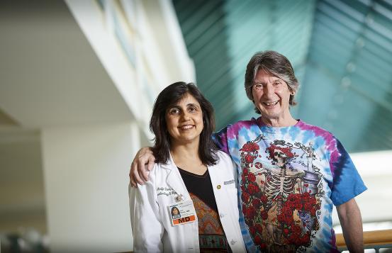 Bob Tierney with gastroenterologist Arifa Toor, MD