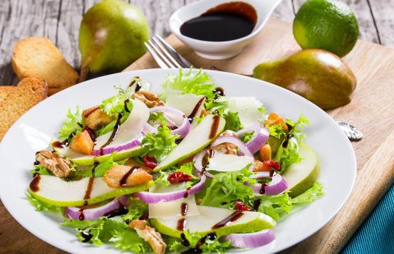 Autumn harvest pear salad