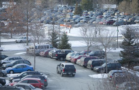 Parking lot at DHMC.