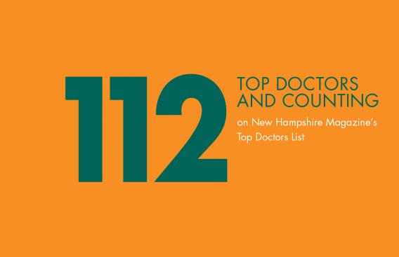 Graphic of 112 physicians being recognized