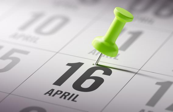 Image of April 16 calendar