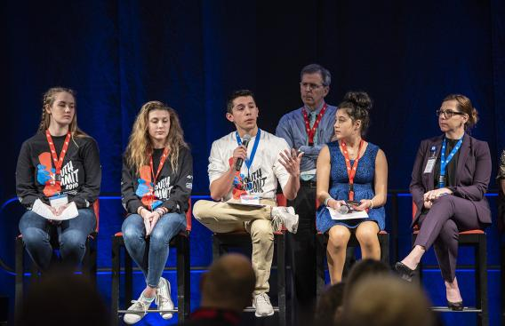 Student panelists from the Youth Summit