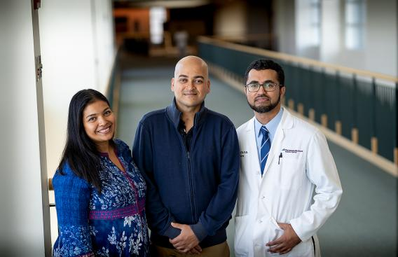 Swait and Prateek Mohanty with Nasar Jaleel, MD, PhD