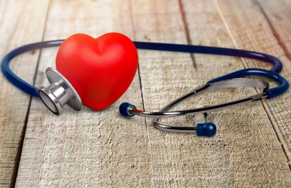 Heart and stethoscope photo