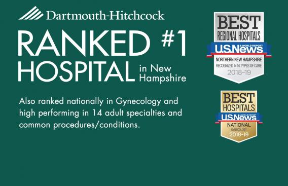 DHMC nationally ranked in Gynecology; cited for excellence in 14 clinical programs.