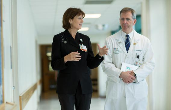 Joanne Conroy, MD, CEO and President of Dartmouth-Hitchcock with Keith Loud, MD, MSc, FAAP