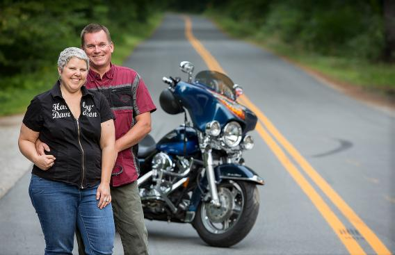 "Kathleen ""Kat"" Barrell with her husband, Chris."