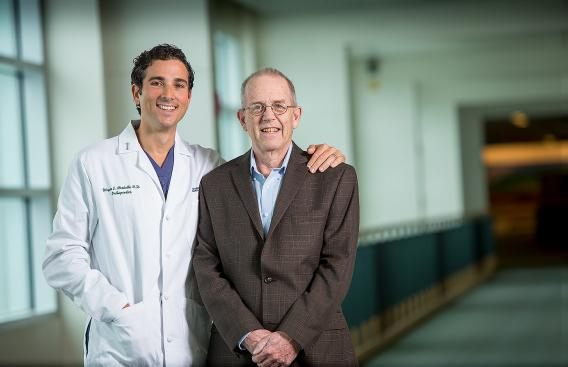 Dr. Moschetti with Michael Mahoney