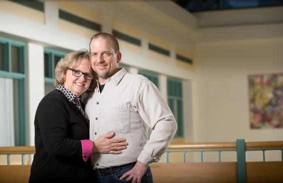 D-H patient Jeff Gibbs with his wife Kim
