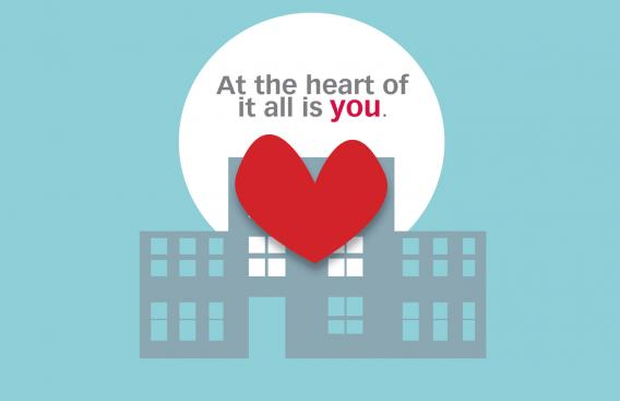 At the heart of it all is you: heart on hospital